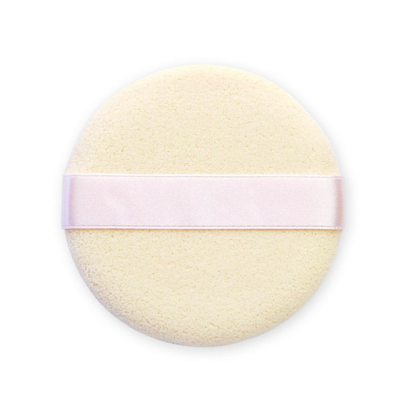 リボン付きスポンジパフ(●ネオパウダーファンデーションがキレイに手早く塗れるパフ) 花咲オリジナル